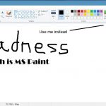 A picture of the sadness that is MS Paint.